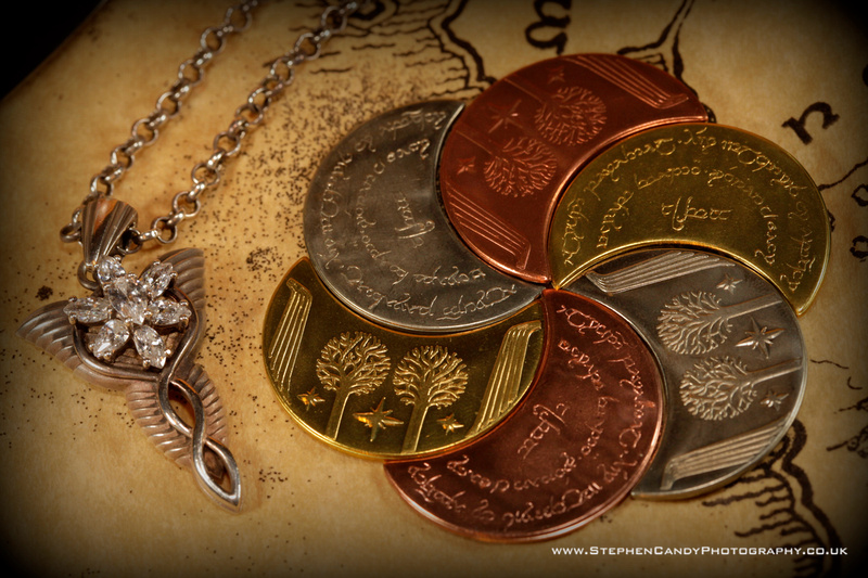 Evenstar Necklace with Rivendell Moon coins